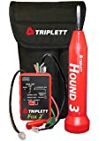Triplett 3399 Premium Wire Cable Tracker Tracing Kit with Adjustable Sensitivity Bandpass Filter and Warble or Pulse Tone Selector
