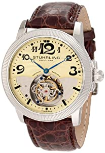 Stuhrling Original Men's 350.331543 Tourbillon Destiny Limited Edition Brown Leather Strap Watch