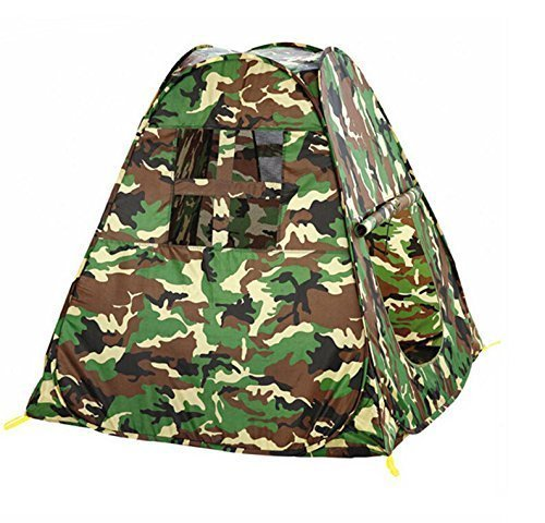 Zewik Kids Pop-up Play Tent Children Green Camouflage Triangle Canopy Pretend Army War Soldier by Zewik