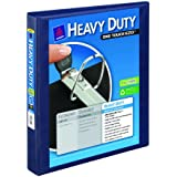 Avery Heavy-Duty Reference View Binder with 1 Inch EZD Rings, Navy Blue (79809)