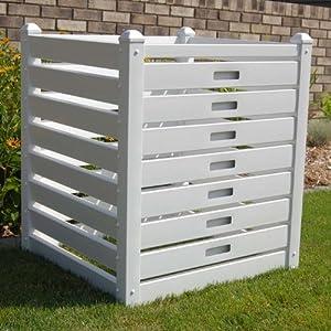 Dura-Trel 11234 10 Cubic Feet Compost Bin, White
