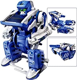 Electronictechcrafts® 3-in-1 Educational T3 Solar Transforming Robot Science Kit DIY