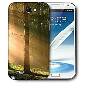 Snoogg Falling Sunlight In Forest Printed Protective Phone Back Case Cover For Samsung Galaxy Note 2 / Note II