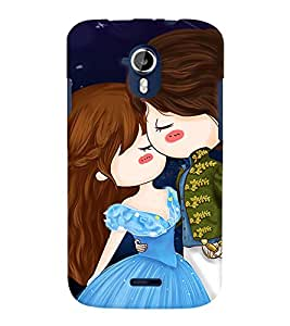 TOUCHNER (TN) Couple Back Case Cover for MICROMAX A111