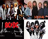 80s Party Decorations - 10 x A4 80s Metal / Rock Posters