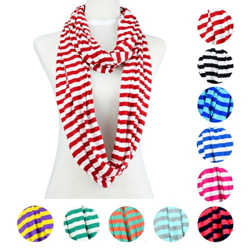 Stripe Cycle Chevron Infinity Zebra Scarf