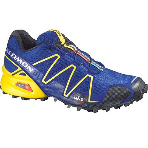 Salomon Speedcross 3, Scarpe sportive, Uomo, Multicolore (G Blue/Canary Yellow/Black), 46