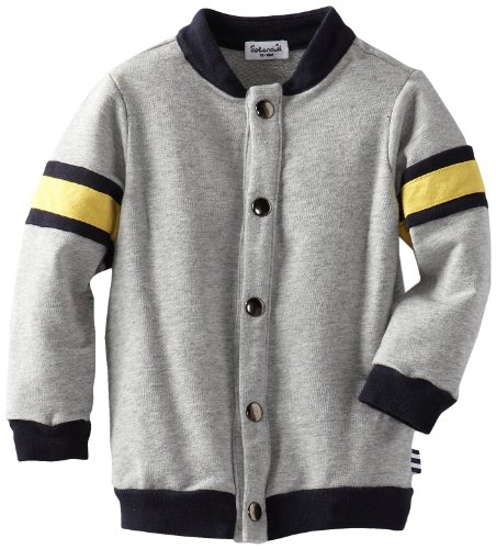 Splendid Littles Baby-Boys  Academy Track Jacket, Heather Grey, 12-18 Months