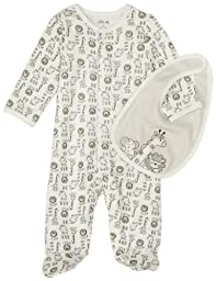 Little Me Safari Footie, Ivory Multi, 6 Month