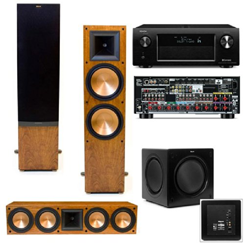 Klipsch RF-7 II Towers-RC-64II(cherry)-SW-310 Denon AVR-X4000 (Klipsch Rc 64 Ii compare prices)