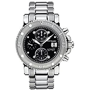 Montblanc 104659 44mm Automatic Silver Steel Bracelet & Case Anti-Reflective Sapphire Men's Watch