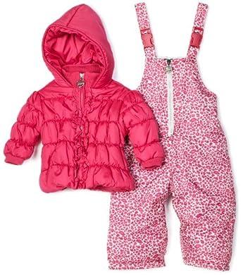 XOXO Toddler Girls Pink Snowsuit Jacket Pants (2T)