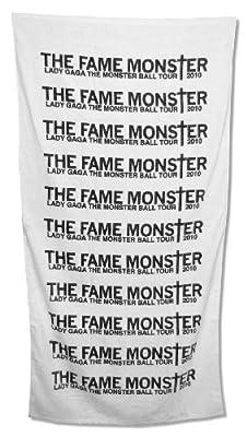 """Lady Gaga """"Fame Monster"""" Tour White Beach Towel"""