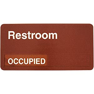 Accuform signs mflplxb6 dura shield acrylic plastic slide for Bathroom occupied sign