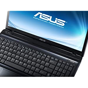 Asus A52JE-EX079V 39,6 cm (15,6 Zoll) Notebook (Intel Pentium Dual Core P6100, 2GHz, 4GB RAM, 320GB HDD, ATI HD 5470, DVD, Win7 HP) schwarz