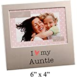 "I Love My Auntie Brushed Silver 6"" x 4"" Picture Frame By Haysom Interiors"