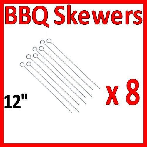 "5pc 12"" Chrome Bbq Skewers"