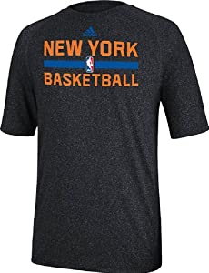 New York Knicks Heather Black Climalite Practice Short Sleeve Shirt by Adidas by adidas