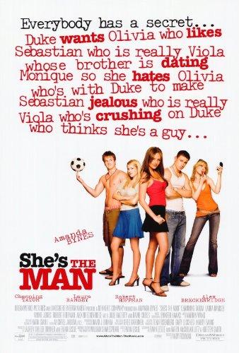 She's the Man Poster Movie 27 x 40 In - 69cm x 102cm Jeffrey Ballard Lynda Boyd Alex Breckenridge Amanda Bynes Amanda Crew David Cross