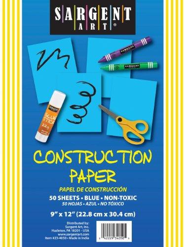 Sargent Art 23-4050 50-Count Blue Construction Paper - 1