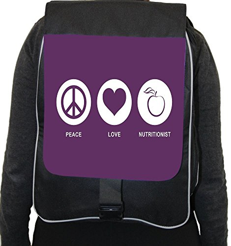 Rikki Knighttm Peace Love Nutritionist Purple Color Back Pack