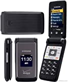 Samsung Haven U320 Verizon CDMA Flip Phone with Slim Form Factor and Large 2.2 Display Screen - Black/Grey