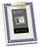 Southworth Foil-Enhanced Certificates, 8.5 x 11 Inches, Silver Border, 15 per Pack (CT1R)