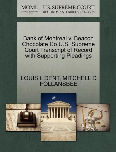 bank-of-montreal-v-beacon-chocolate-co-us-supreme-court-transcript-of-record-with-supporting-pleadin