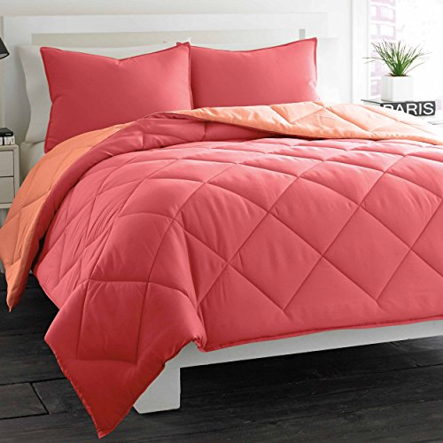 Coral Duvet Cover Queen front-1036870