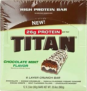 Titan Bar Chocolate Mint 12 bars
