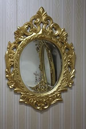 baroque mirror antique style leaved gold AlMi0140GGo