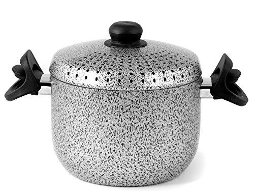home-salt-npep-pastaiola-antiaderente-alluminio-4-litri-nero-grigio-20-cm