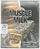CytoSport Muscle Milk 73 g Chocolate Peanut Caramel High Protein Bars - Box of 8