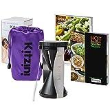 Vegetable Spiralizer Kit - Spiral Slicer Set - Including Storage Bag, Cleaning Brush and 2 Recipe eBooks - Julienne Peeler Veggie Cutter Complete Bundle