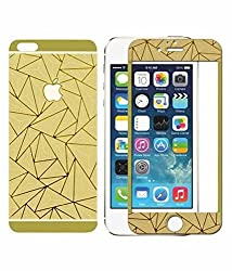 Relax And Shop 3D Diamond Mirror Front + Back Tempered Glass Screen Protector For Iphone 4 / 4S - Gold