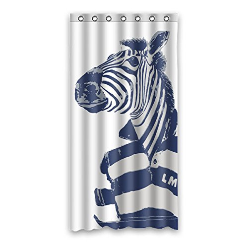 """Stile minimalista Avantgarde elementi The Zebra indossare camicia di POLO il colore di sfondo è bianco disegno Tende doccia 100% Poliestere tessuti Impermeabile bagno tende 90 cm x183 cm (36 """"x72"""")"""