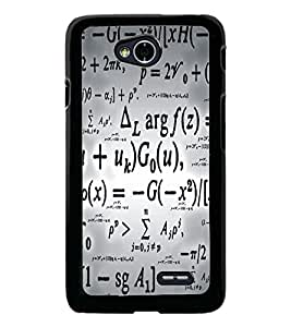 PrintDhaba Typography D-5468 Back Case Cover for LG L70 (Multi-Coloured)