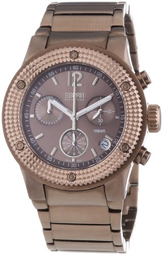 Esprit Collection - EL101282S09 - Anteress - Montre Mixte - Quartz Chronographe - Cadran Marron - Bracelet Acier Marron