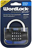 Wordlock PL-004-BK 5-Dial Combination Padlock, Black