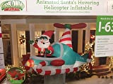 Christmas Decor Airblown Inflatable 7 Santa Animated Hoovering Helicopter