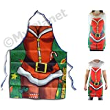 #6: Christmas Cooking Apron Novelty Sexy Santa Claus Xmas Joke Dinner Party Unisex Adult Apron