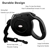 URPOWER 26-Feet Nylon Retractable Dog Leash for Medium & Large Dogs