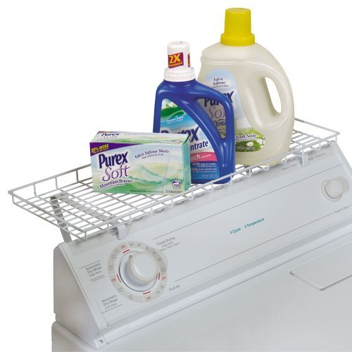 Household Essentials Over-The-Washer Storage Shelf, White