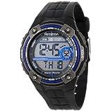 Reloj Armitron Sport para hombre, deportivo, con pulsera de goma color negra.