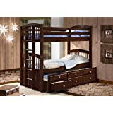 Twin/Twin Angelica Captains Trundle Bunkbed--Cappucino