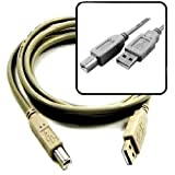 6ft USB 2.0 Type-A to USB Type-B High Speed Cable for Lexmark, HP Deskjet, D1600, D2660, OfficeJet, Pro 8000, Canon PIXMA, Pro9500, Pro9500, Mark II and many other Printers.