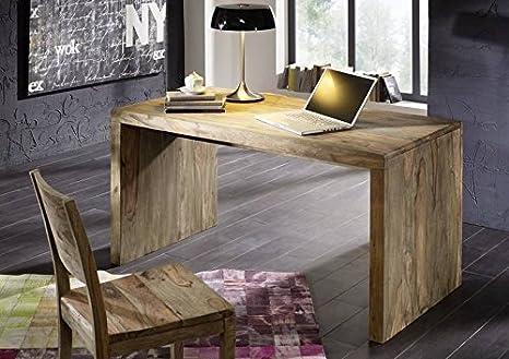 Sheesham Holz massiv Schreibtisch Massivmöbel Nature Grey #710