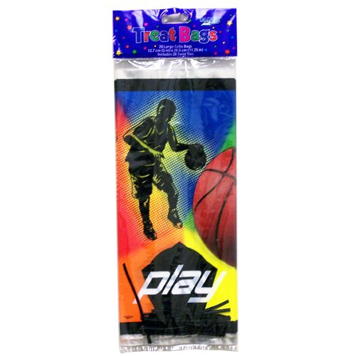 Paper Art Play Basketball 20 Ct Lg Cello Treat Bag - Case Pack 72 SKU-PAS693181