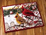 Winter Cardinals Latch Hook Rug Kit