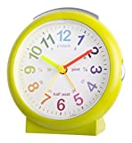 Acctim 15215 Lulu 2 Green Time Teaching Bold Sweeping Seconds Quartz Alarm Clock